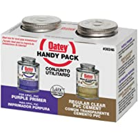 Oatey 30246 PVC Regular Cement and 4-Ounce NSF Purple Primer Handy Pack
