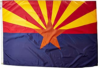 product image for Annin Flagmakers Model 140270 Arizona State Flag 4x6 ft. Nylon SolarGuard Nyl-Glo 100% Made in USA to Official State Design Specifications.