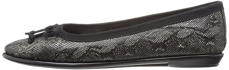 Aerosoles Women's Ballet Flat B01HQHLWVA 8 W US|Black Snake