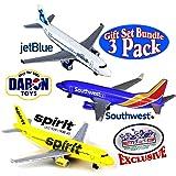 "Daron Southwest, JetBlue & Spirit Airlines Die-cast Planes ""Matty's Toy Stop"" Exclusive Gift Set Bundle - 3 Pack"