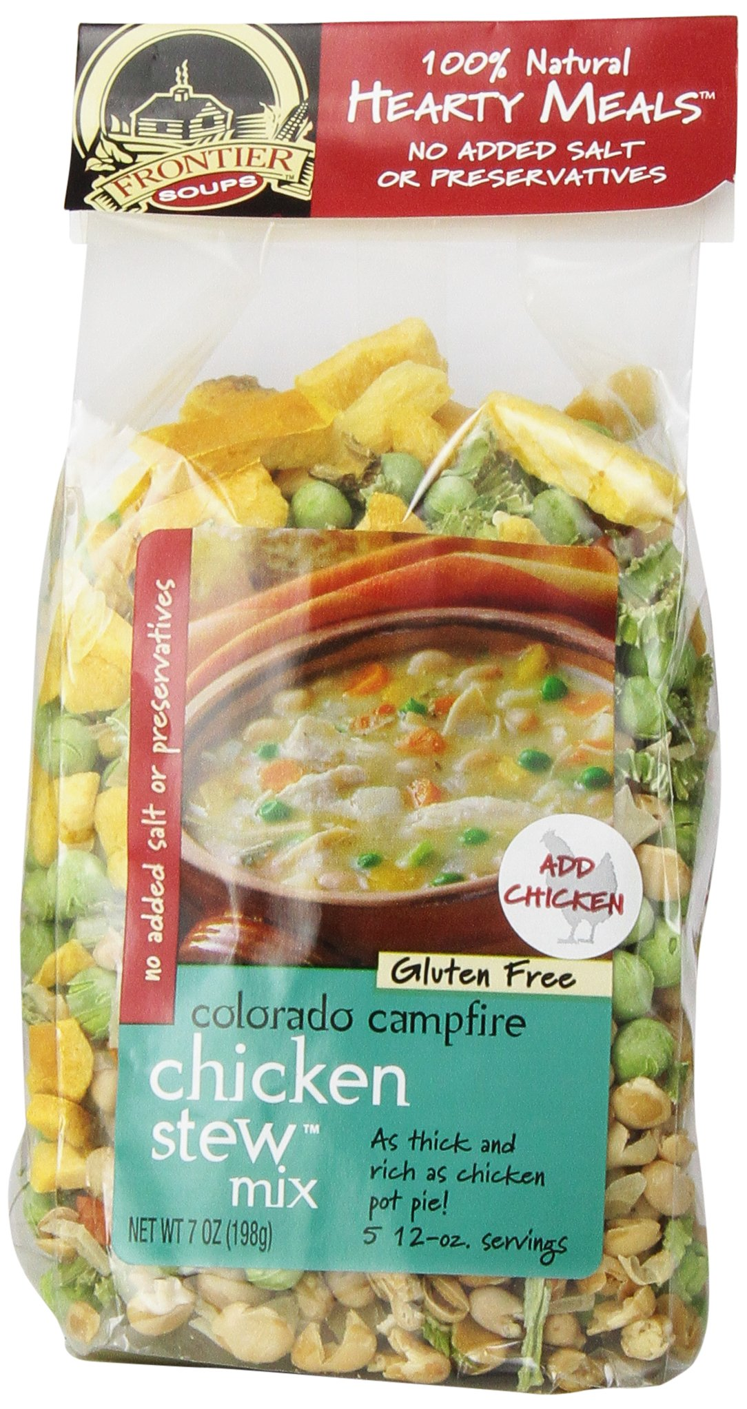 Frontier Soups Hearty Meal Soups Colorado Campfire Chicken Stew Mix, 7 Ounce