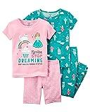 Carter's Girls' 6M-12 4 Piece Princess Pajama Set 3T