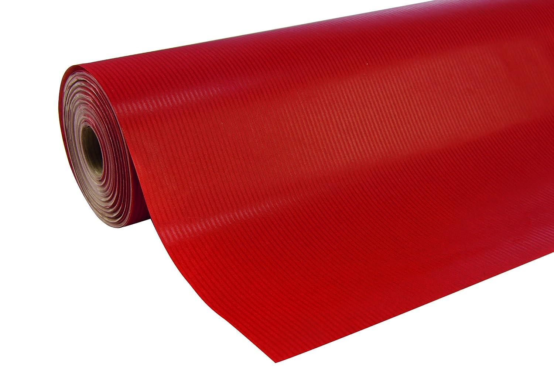 Clairefontaine - Rotolo di carta a tinta unita, 50 x 0,7 m, colore: Rosso C Rhodia ExaClair 507506C Techniques artistiques