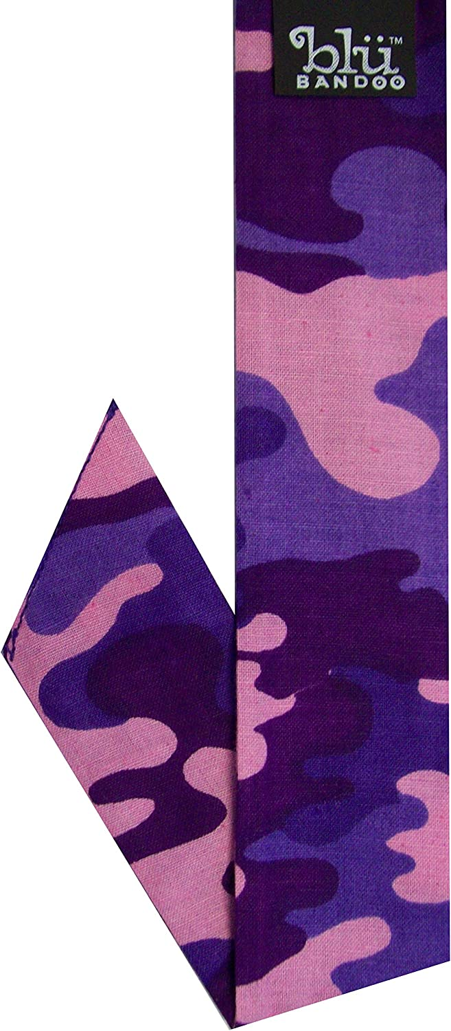 Blubandoo | Water Activated Evaporative | Neckbandoo Cool Tie with Cooling Crystals | Unisex Neck Scarf | Camouflage Print Group | Available in Purple Camouflage