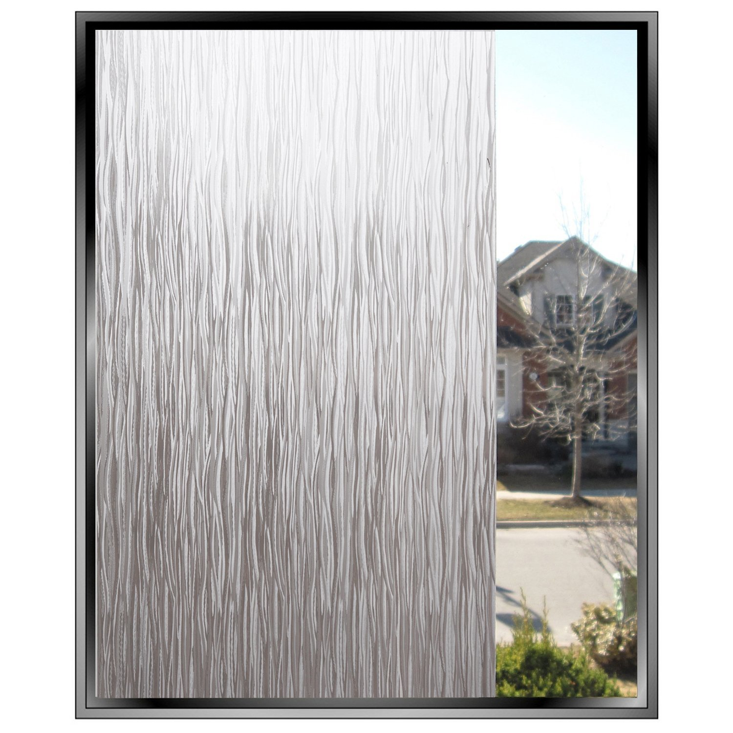 Rain Glass Window Film Static Cling Opaque Glass Sticker Home Decor (Rain)