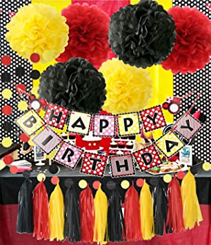 Amazoncom Mickey Mouse Theme Birthday Party Supplies Yellow Black