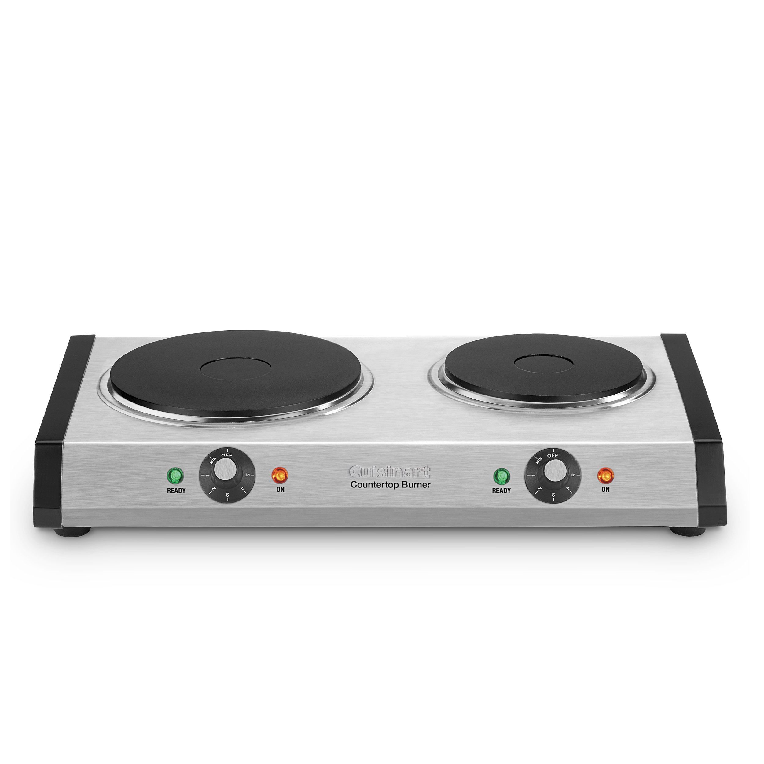 Cuisinart CB-60 Cast-Iron Double Burner, Stainless Steel by Cuisinart