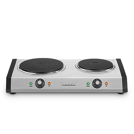 Burners & Hot Plates NEW Estufas Electricas Indoor Outdoor Ceramic Double Plate Cooktop Lightweight