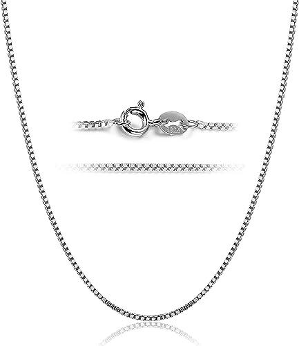 Hommes /& Femmes Fashion 925 Sterling Argent Collier Chaîne Bijoux livraison gratuite!
