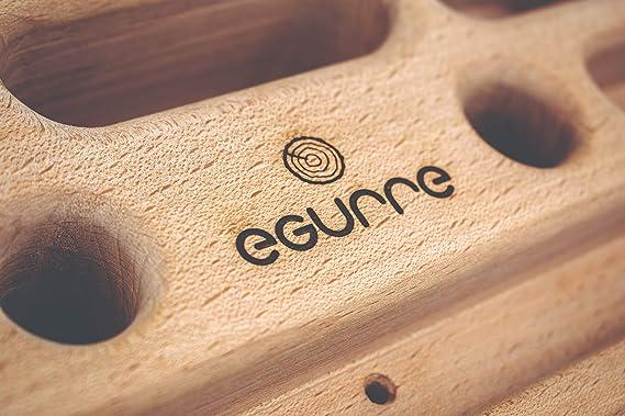 eGUrre hangboard Tabla Entrenamiento de Escalada, Fingerboard –Basati presas de Escalada de Madera