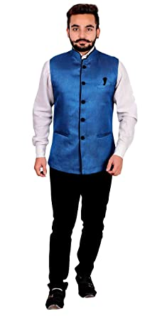 Amazon.com  Men s Nehru Gandhi style Waistcoat for shalwar kameez for Indian  Bollywood theme party costume 1012 (36 (XS) ac1276f7b