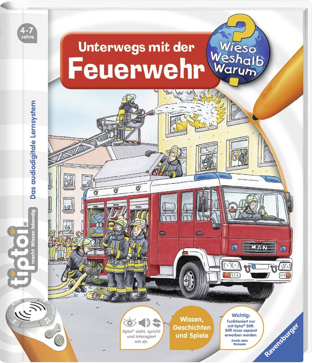 Ravensburger tiptoi de paseo con la BOMBERO GRATIS kinder-sticker