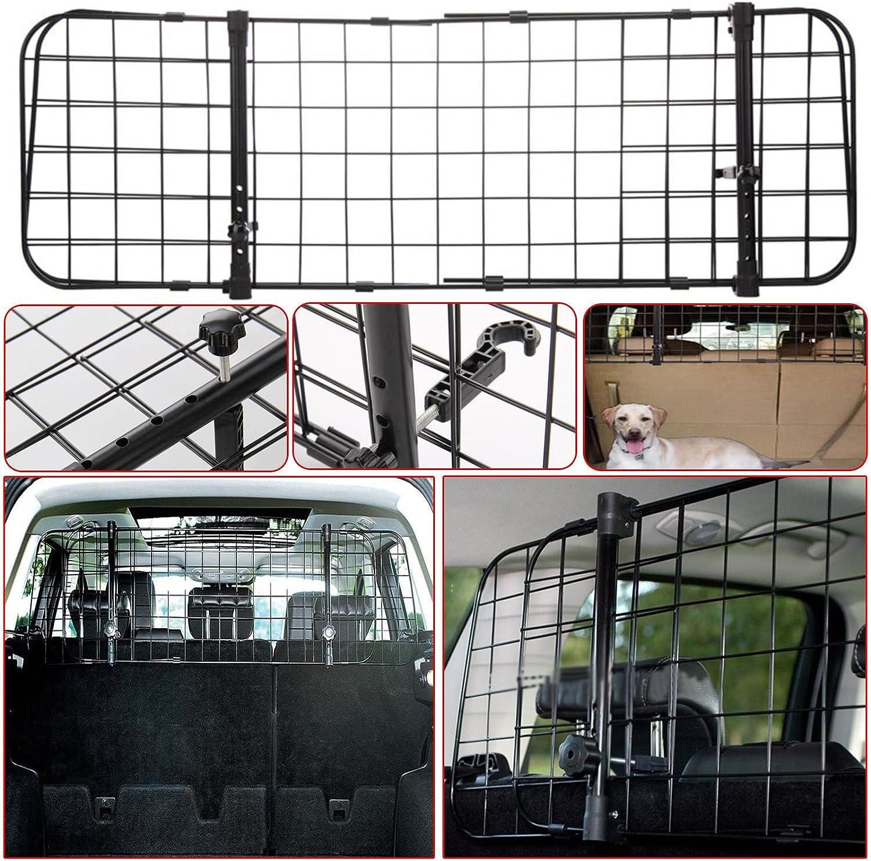 Universal Schutzgitter Für Kofferraum Für Haustiere Verstellbar Zur Befestigung An Den Kopfstützen Auto