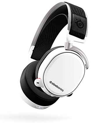 Amazon Com Steelseries Arctis Pro Wireless Gaming Headset Lossless High Fidelity Wireless Bluetooth For Ps4 And Pc White Video Games