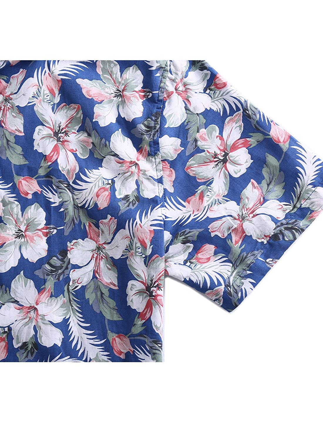 uxcell/® Men Slim Fit Floral Print Short Sleeve Button Down Beach Hawaiian Shirt