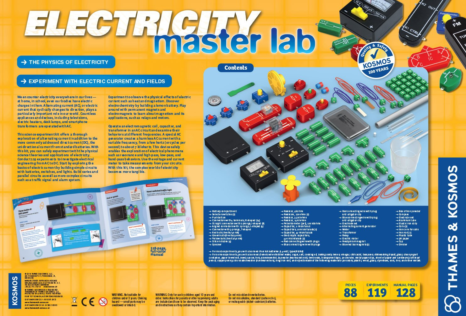 Thames And Kosmos Electricity Master Lab Toys Games Series Parallel Circuits Science Junky Pinterest