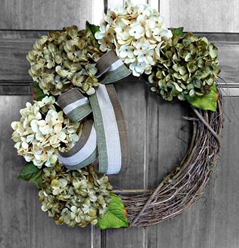 Amazoncom Front Door Wreaths For All Seasons Green Hydrangea