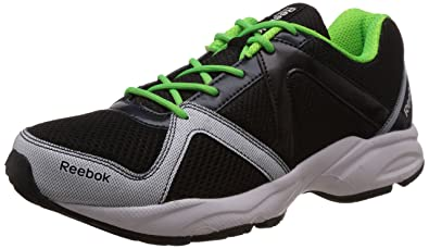 Reebok Men's Reebok Thunder Run Black,Blue, Green And White Running Shoes -  7