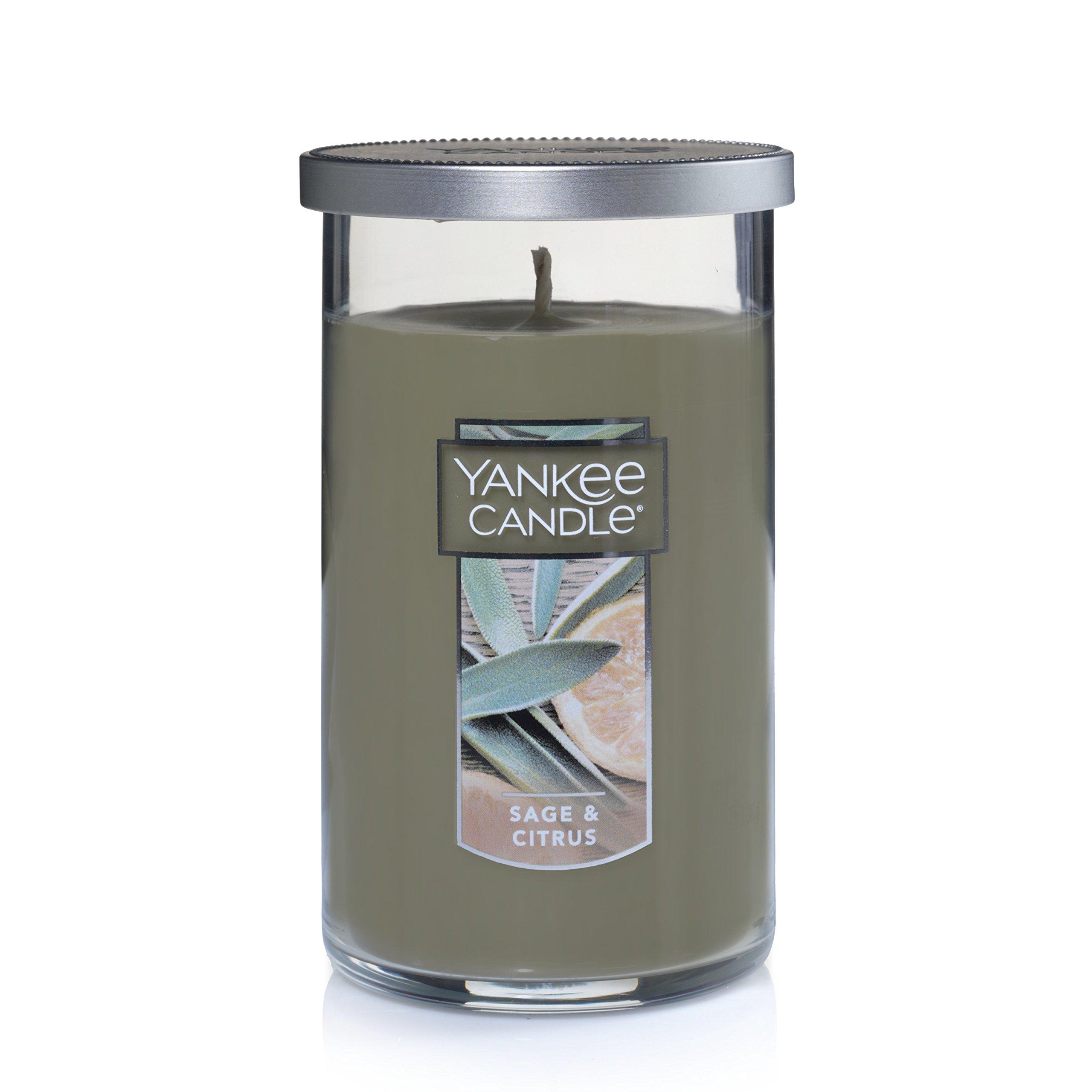 Yankee Candle Medium Perfect Pillar Candle, Sage & Citrus