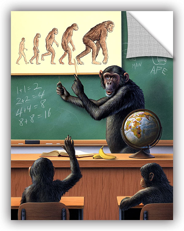 14 by 18 ArtWall Jerry Lofaro A Species Origin Appeelz Removable Graphic Wall Art