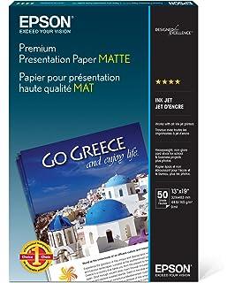 Amazon com : Epson S041257 Premium Matte Presentation Paper, 45 lbs