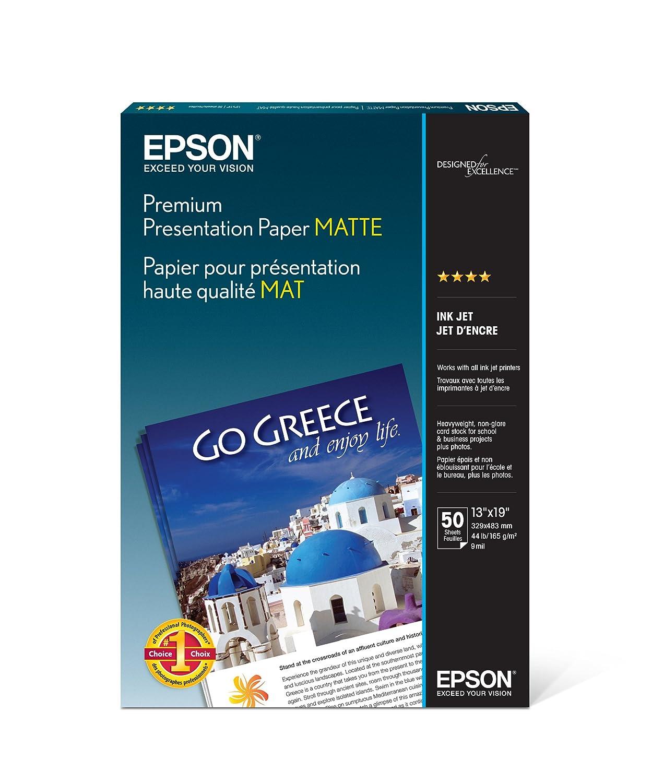 Epson Premium Presentation Paper MATTE 13x19 Inches, 50 Sheets S041263