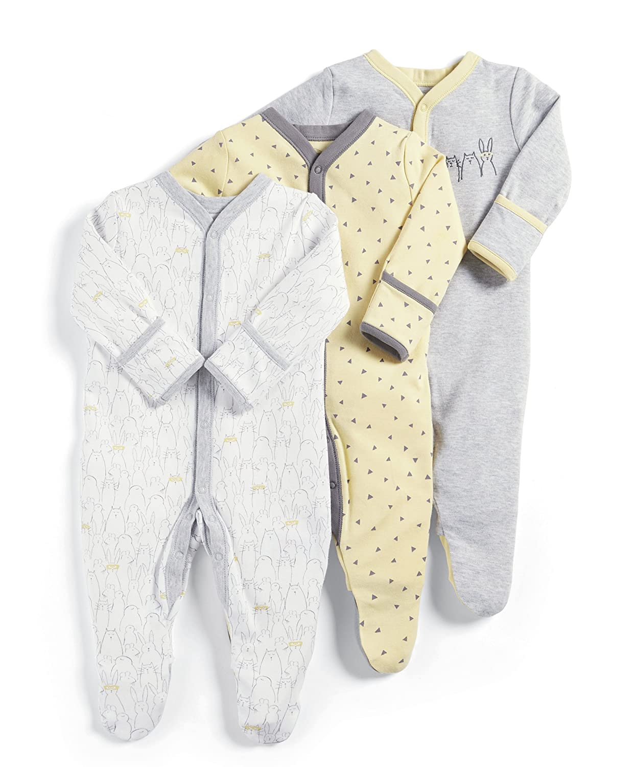 Mamas & Papas Baby Footies Pack of 3 Mamas and Papas