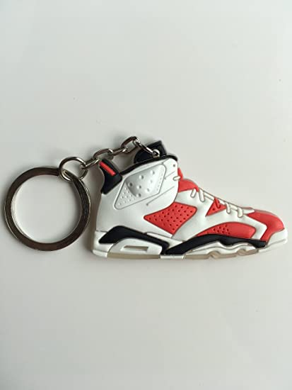 new appearance closer at store Amazon.com : Jordan Retro 6 Carmine Sneaker Keychain Shoes ...