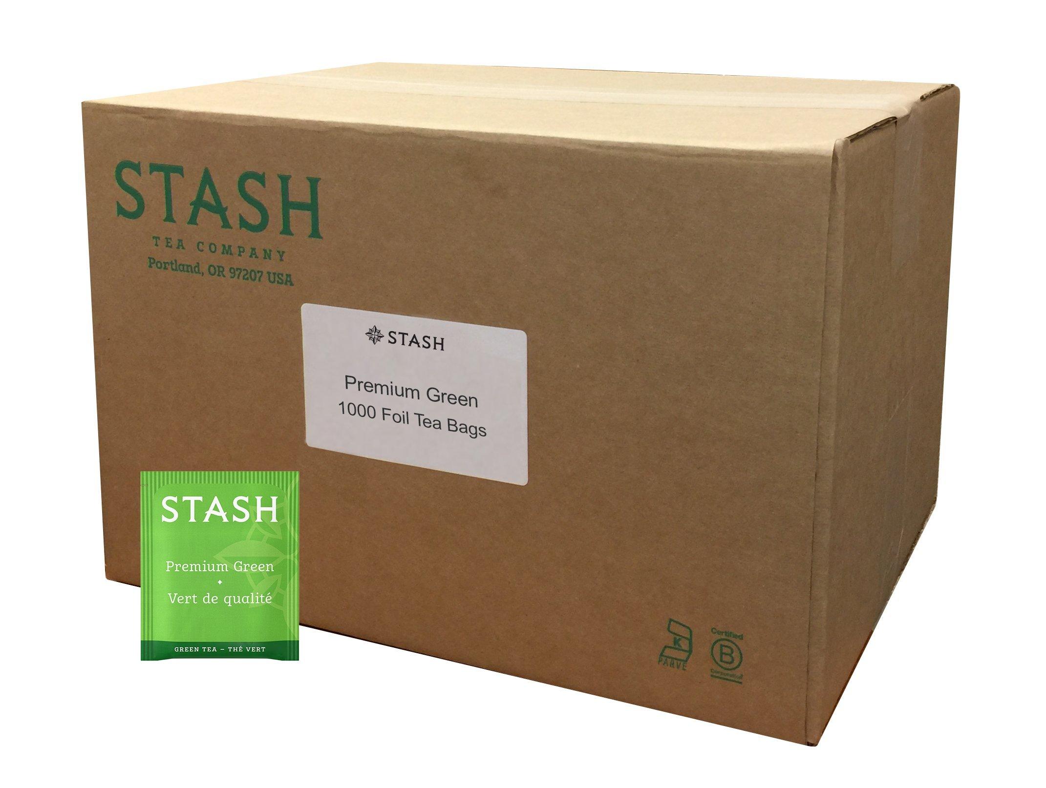 Stash Tea Premium Green Tea 1000 Count Box of Tea Bags in Foil
