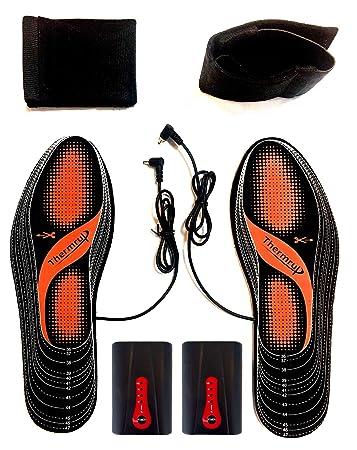 Lavable. Calentador de Suelas Trabajo Calentador de pies con Plantillas calefactables para Hombres y Mujeres esqu/í Suela c/álida para el Invierno para Caza