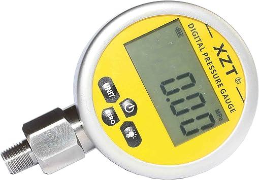 Man/ómetro hidr/áulico digital man/ómetro man/ómetro 400BAR 0-40 Mpa 10000 PSI con conector G1 // 4 man/ómetro hidr/áulico