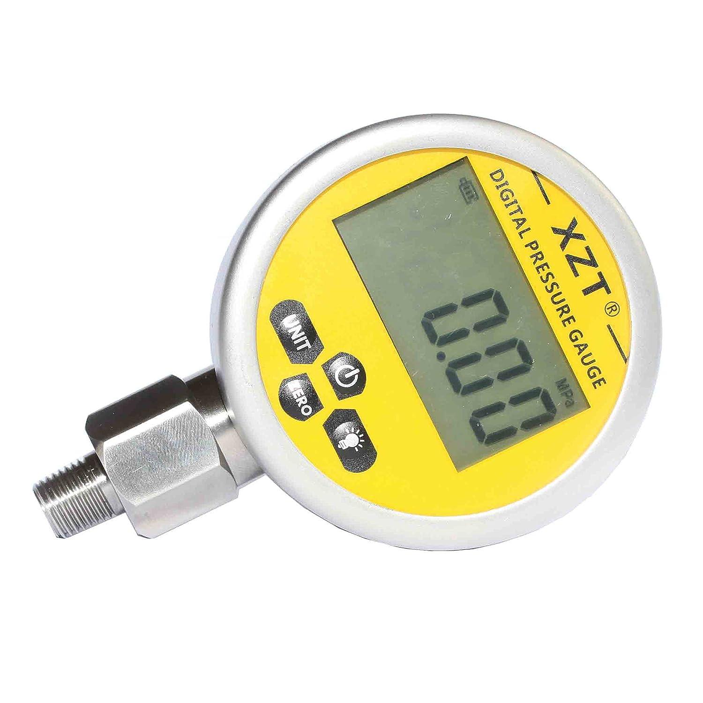 XZT Digital Hydraulic Pressure Gauge 700BAR/10000psi-1/4BSP-base Entry