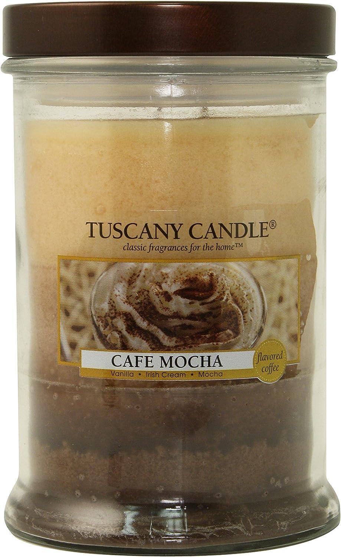 Langley Empire Candle Triple Pour, Mottled, Bronze Lid, 18-Ounce, Cafe Mocha