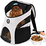 Hokonui Pet Dog Backpack Shoulder Puppy Pack Outdoor Travel Carrier for Pet Cat Rabbit bag Pup Cage Breathable Mesh Window