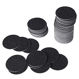 60pcs Replacement Sandpaper Discs for Polishing Craft or Electric Callus Remover Pedicure Tool, Regular Coarse 180 Grit