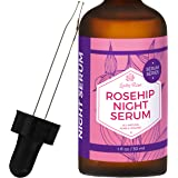 Rosehip Night Serum by Leven Rose - 100% Pure, Organic, Natural - Renews Skin, Brightens Complexion, Anti-Inflammatory, Anti-Aging - 1 oz