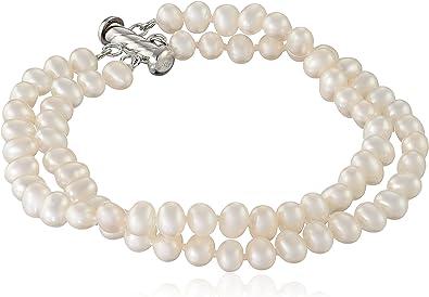 White Pearl 8mm Bracelet Beautiful Creamy White Freshwater Pearls
