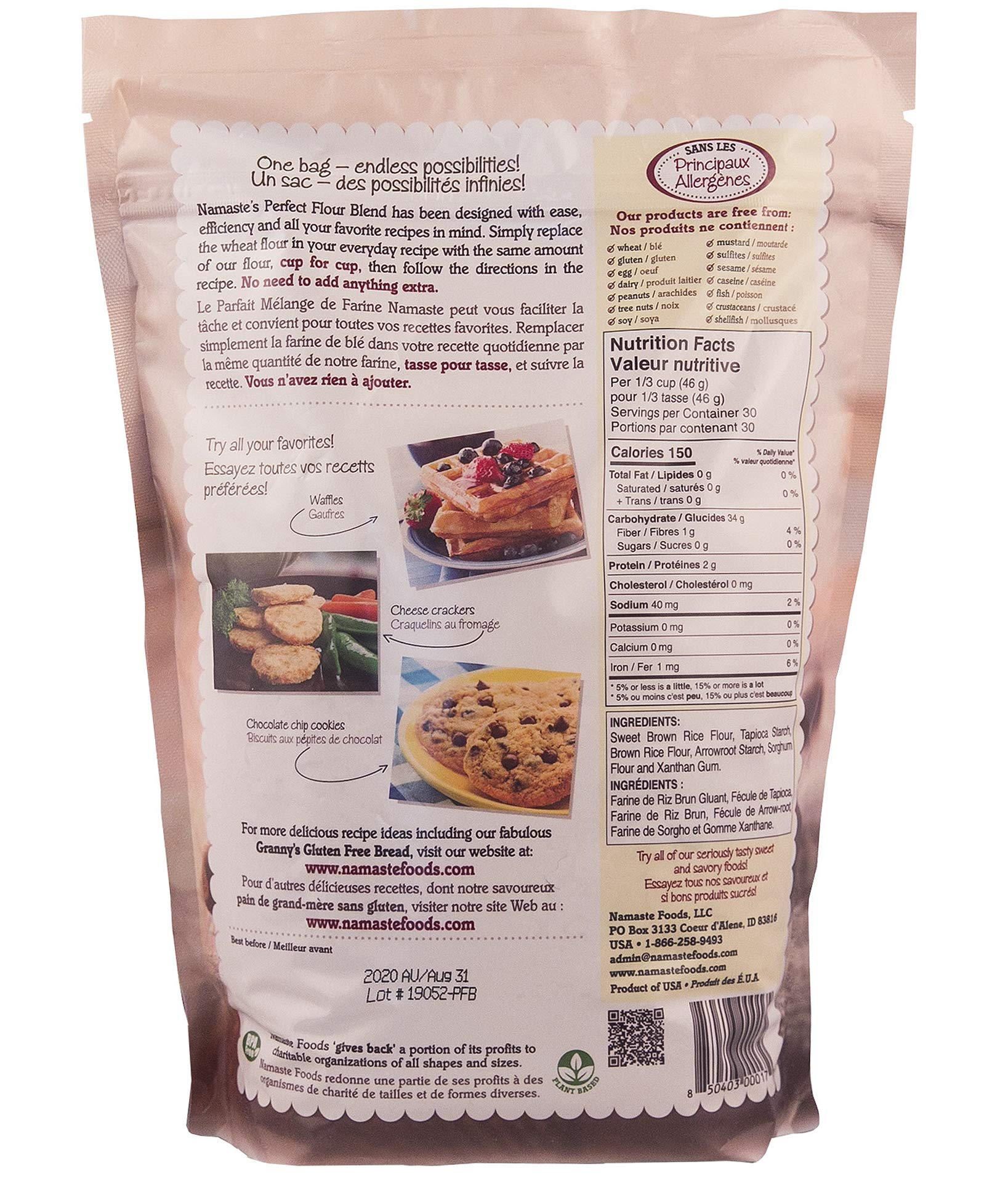 Namaste Foods, Gluten Free Perfect Flour Blend, 48-Ounce Bags (Pack of 6) by Namaste Foods (Image #3)