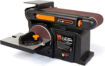 WEN 4.3A Belt and Disc Sander with Cast Iron Base