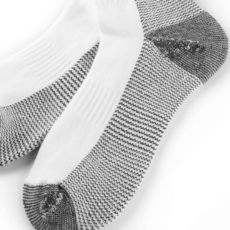Ueither 6 Pares Calcetines de Algod/ón para Hombres Mujer Calcetines de Deporte Cushion Crew Socks