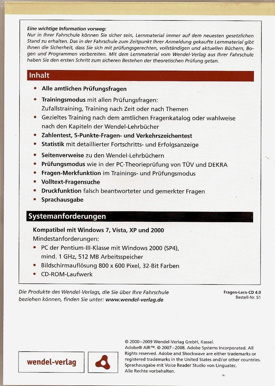 Wendel Verlag fragen lern cd 4 0 kl b a a1 m s l t mofa amazon de dvd