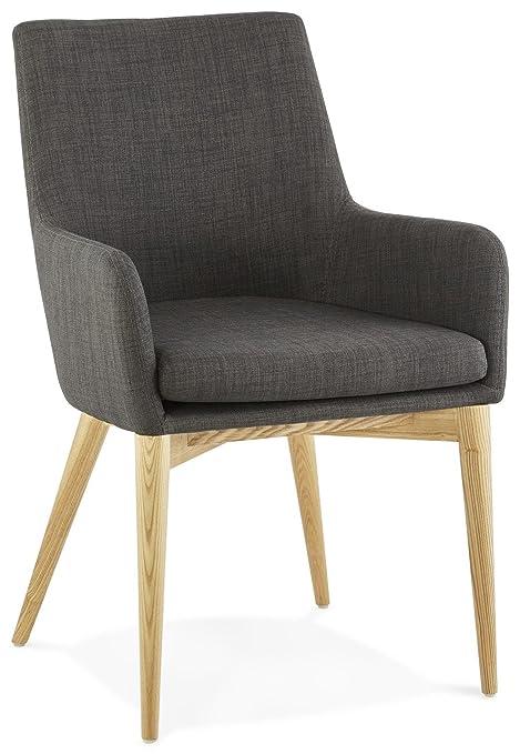 Kendall Gris Oscuro sillón en una Tela de Estilo escandinavo ...