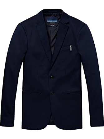 Scotch & Soda AMS Blauw Stretch Denim Suit Jacket, Chaqueta ...