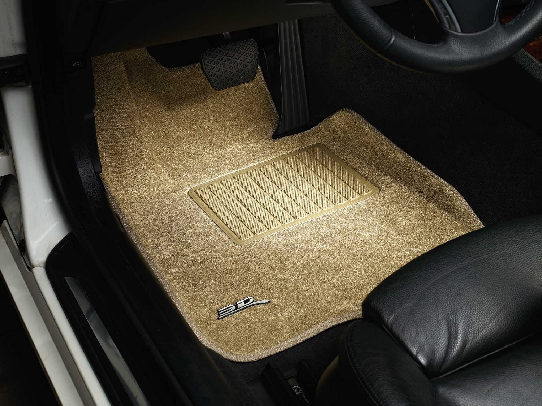 3D MAXpider Complete Set Custom Fit All-Weather Floor Mat for Select Audi A6//S6 Sedan Models Tan Classic Carpet