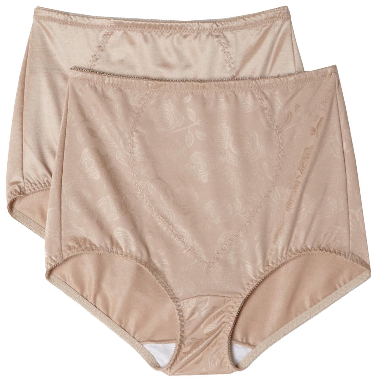 Bali Women's Shapewear Tummy Panel Brief Firm Control 2-Pack, Nude Deluster, X-Large Bali Women' s IA- Shapewear X710