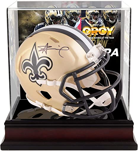 6e406a8e5fe Alvin Kamara New Orleans Saints Autographed Riddell Speed Mini Helmet with  2017 Offensive Rookie of the