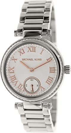 a2ebbe81e85a Image Unavailable. Image not available for. Color  Michael Kors Women s  MK5970 - Mini Skylar Silver