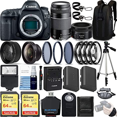 Complete Accessory Kit 11 Items Canon EF 50mm f//1.8 STM Lens for Canon DSLR Cameras /& SanDisk 64GB Class 10 Memory Card