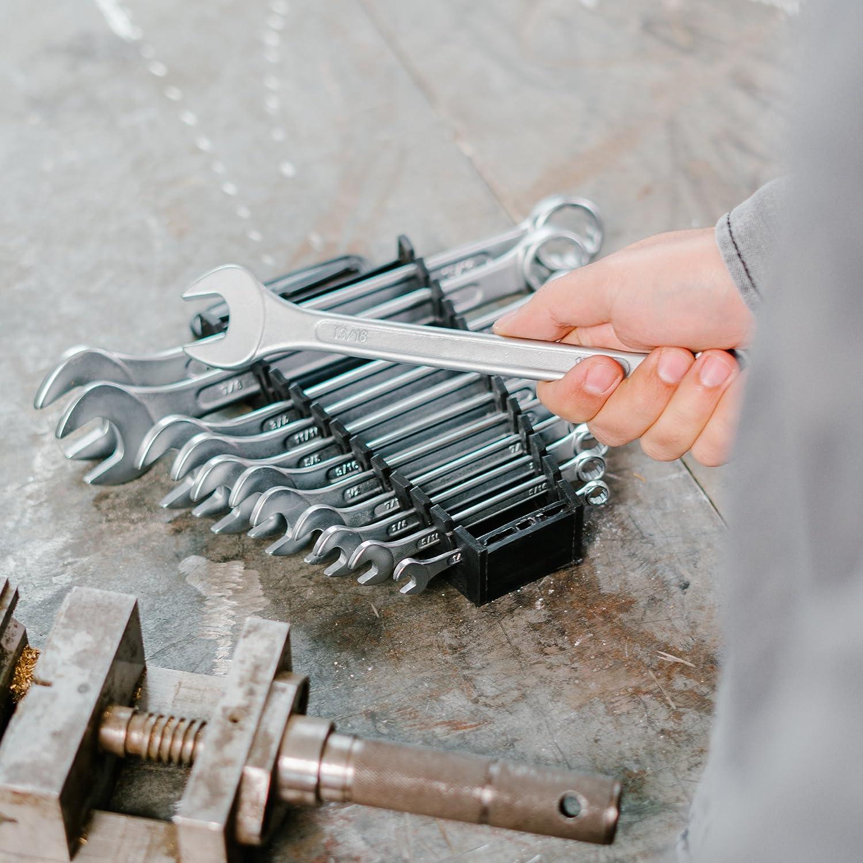 set chiavi per viti con supporto per trasporto WIESMANN 80201 Set chiavi con forchetta e anello da 8 pezzi 8-19 mm
