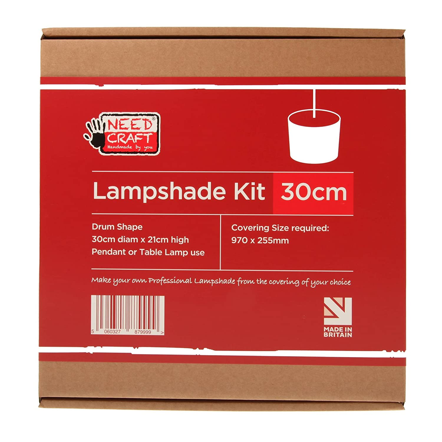 30cm Lampshade Making Kit for Pendants Or Table Lamps lmk30cmdrum needcraft.co.uk